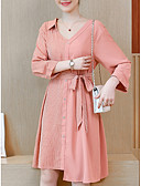 ieftine Rochii NYE-Pentru femei Zvelt Pantaloni Talie Înaltă Roz Îmbujorat / În V / Asimetric