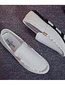 abordables Camisas de Hombre-Hombre Mocasín Tela Primavera & Otoño Casual Zapatos de taco bajo y Slip-On Blanco / Negro
