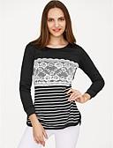 povoljno Majica s rukavima-Majica s rukavima Žene - Aktivan Dnevno Color block U izrez