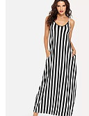 cheap Women's Dresses-Women's Basic Sheath Dress - Striped
