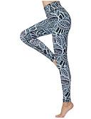 ieftine Costum Damă Două Bucăți-Pentru femei Sexy Pantaloni de yoga - Verde Sport Print Floral Spandex Talie Inaltă Dresuri Ciclism Alergat, Fitness, Sală de Fitness Îmbrăcăminte de Sport Uscare rapidă, Respirabil, Comfortabil