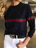 tanie Damskie bluzy z kapturem-Damskie Spodnie - Prążki Biały M