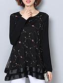 baratos Vestidos para Madrinhas-blusa feminina - gola redonda geométrica
