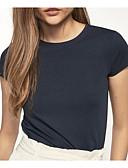tanie T-shirt-T-shirt Damskie Wyjściowe Solidne kolory