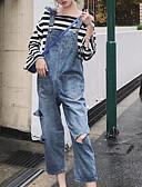 tanie Getry-Damskie Podstawowy Szczupła Kombinezon Spodnie - Solidne kolory Niebieski