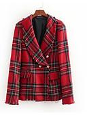 cheap Men's Jackets & Coats-women's cotton blazer-solid colored peter pan collar