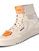 abordables Camisas de Hombre-Hombre Tela Otoño Confort Zapatillas de deporte Blanco / Negro / Beige