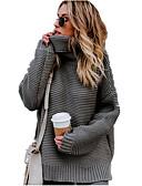 olcso Női pulóverek-Női Napi Alap Egyszínű Hosszú ujj Bő Szokványos Pulóver, Körgallér Ősz / Tél Arcpír rózsaszín / Szürke / Sárga M / L / XL