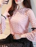 hesapli Bluz-Kadın's Bluz Geometrik Gül kurusu Beyaz