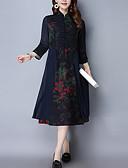 povoljno Ženske haljine-Žene A kroj Haljina Ruska kragna Midi