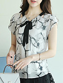 cheap Women's Blouses-women's blouse - geometric v neck
