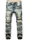billige Herrebukser og -shorts-Herre Aktiv Jeans Bukser Geometrisk