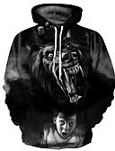 cheap Men's Hoodies & Sweatshirts-Men's Punk & Gothic / Exaggerated Hoodie - Geometric, Print
