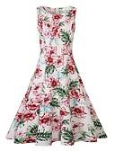 tanie Sukienki-Damskie Moda miejska Pochwa / Sukienka swingowa Sukienka - Kwiaty, Nadruk Do kolan