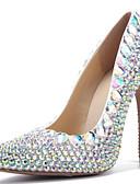 Χαμηλού Κόστους Νυφικά-Γυναικεία Γόβες PU Άνοιξη & Χειμώνας Γλυκός Γαμήλια παπούτσια Τακούνι Στιλέτο Μυτερή Μύτη Τεχνητό διαμάντι Ουράνιο Τόξο / Γάμου / Πάρτι & Βραδινή Έξοδος