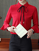 abordables Camisas para Mujer-Mujer Camisa, Cuello Camisero Un Color / Otoño