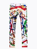 ieftine Pantaloni Bărbați si Pantaloni Scurți-Bărbați Șic Stradă Pantaloni Chinos Pantaloni Curcubeu Ananas