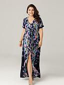 رخيصةأون فساتين نسائية-طويل للأرض ورد - فستان متأرج بوهو للمرأة