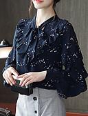 ieftine Bluză-Pentru femei În V Bluză Buline Paiete