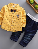 cheap Print Dresses-Baby Boys' Basic Solid Colored Long Sleeve Clothing Set / Toddler