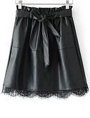 ieftine Print Dresses-Pentru femei Linie A De Bază Mini Fuste - Mată