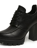 ieftine Bluză-Pentru femei Fashion Boots PU Toamnă minimalism Cizme Toc Îndesat Vârf rotund Cizme / Cizme la Gleznă Negru / Rosu / Kaki