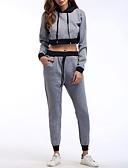 ieftine Tricou-Pentru femei De Bază / Șic Stradă Set - Bloc Culoare, Pantaloni Cu Șiret