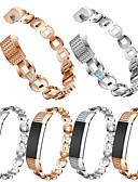 halpa Smartwatch-nauhat-Watch Band varten Fitbit Alta HR / Fitbit Alta Fitbit Urheiluhihna / Korudesign Ruostumaton teräs / Keraaminen Rannehihna