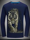 お買い得  メンズTシャツ&タンクトップ-男性用 Tシャツ ヴィンテージ 動物 タイガー