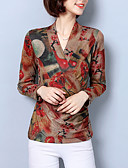 ieftine Tricou-Pentru femei În V Tricou Floral