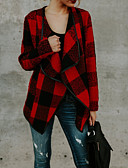 olcso Női blézer és dzseki-Alap Női kimono Jacket - Kockás / Tarka