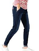 abordables Pantalones y Shorts de Hombre-Hombre Delgado Vaqueros Pantalones - Un Color Azul Piscina