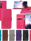 tanie Etui na telefony-Kılıf Na Nokia Nokia 6 2018 / Nokia X6 Portfel / Etui na karty / Z podpórką Pełne etui Solidne kolory / Mandala / Motyl Twardość Skóra PU na Nokia 8 / Nokia 7 Plus / Nokia 6
