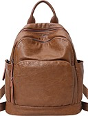 cheap Women's Blouses-Cowhide Zipper Commuter Backpack Daily Brown / Black