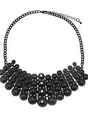 ieftine Bluză-Pentru femei Geometric Grămadă Coliere - Ștras Simplu, European, Hiperbolă Negru 45 cm Coliere Bijuterii 1 buc Pentru Casual, Zilnic