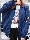 abordables Biquinis y Bañadores para Mujer-Mujer Diario / Deportes Corto Chaqueta, Letra Escote Redondo Manga Larga Poliéster Azul Piscina / Rosa M / L / XL