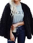 povoljno Ženske jakne od kože i umjetne kože-Jakna Veći konfekcijski brojevi Žene Jednobojni