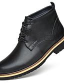 billige Cykeltrøjer og shorts/bukser sæt-Herre Fashion Boots Læder Vinter Britisk Støvler Hold Varm Ankelstøvler Sort / Fest / aften