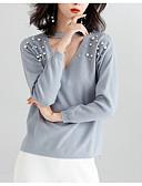 povoljno Ženski džemperi-Žene Osnovni Pullover - Kolaž, Jednobojni / Na točkice