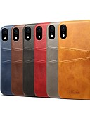 cheap iPhone Cases-Case For Apple iPhone XS / iPhone XR Card Holder / Shockproof Back Cover Solid Colored Hard PU Leather for iPhone XS / iPhone XR / iPhone XS Max