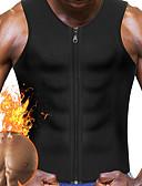 billige Damekjoler-Vest til midjestyrking / Body Shaper / Hot Sweat Workout Tank Top Slimming Vest Med neopren Glidelås Vekttap, Tummy Fat Burner Til Herre Yoga & Danse Sko / Trening & Fitness / Treningssenter Mage