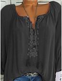 ieftine Bluze & Camisole Femei-Pentru femei În V - Mărime Plus Size Tricou Mată