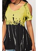 billige T-shirt-V-hals Dame - Geometrisk Plusstørrelser T-shirt