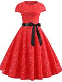 tanie Sukienki-Damskie Vintage / Elegancja Bawełna Szczupła Spodnie - Solidne kolory Czerwony / Wyjściowe