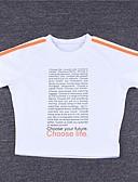 tanie T-shirt-T-shirt Damskie Wyjściowe Kolorowy blok / Litera / Litera