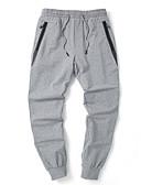 povoljno Muške duge i kratke hlače-Muškarci Osnovni Veći konfekcijski brojevi Pamuk Slim Chinos Hlače - Jednobojni Tamno siva