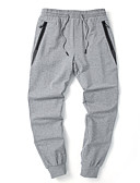 ieftine Pantaloni Bărbați si Pantaloni Scurți-Bărbați De Bază Mărime Plus Size Bumbac Zvelt Pantaloni Chinos Pantaloni - Mată Gri Închis