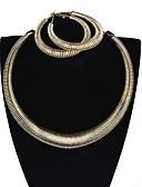abordables Cinturones a la Moda-Mujer Estilo retro Conjunto de joyas - Donuts Importante Incluir Collar Dorado / Plata Para Fiesta Diario / Pendientes