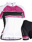 tanie Seksowna koronkowa bielizna-Nuckily Damskie Krótki rękaw Koszulka z szortami na rower - Niebieski / Różowy Rower Szorty / Dżersej / Spodenki snowboardowe, Wodoodporny, Oddychający, Odporność na promieniowanie UV, Wodoodporny