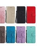 povoljno Maske za mobitele-Θήκη Za Huawei P smart / Huawei Honor 10 / Huawei Honor 9 Lite Novčanik / Utor za kartice / sa stalkom Korice Mačka / drvo Tvrdo PU koža